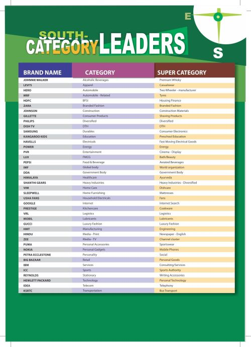South category leaders - The Brand Trust Report 2014